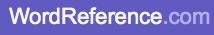 Logo et lien WordReference.com