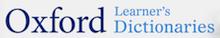 Logo et lien Oxford Learner's Dictionaries
