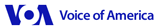 Voice of America logo and link